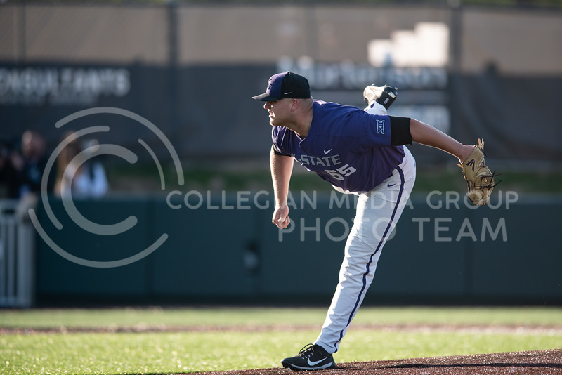 The K-State Wildcat Baseball team faced off against the Texas Chirstian University Horned Frogs at Tointon Family Stadium losing, 8-1 on April 19, 2019. (Olivia Bergmeier | Collegian Media Group)