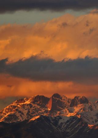 Winter Sunset on Kit Carson Mountain