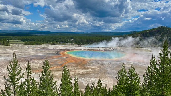 Grand Prismatic Spring and Fairy Falls