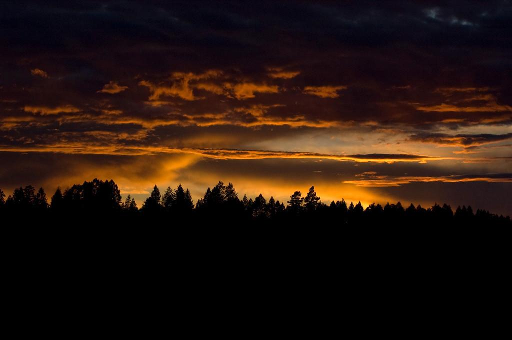 SUNSET IN BIGFORK, MONTANA
