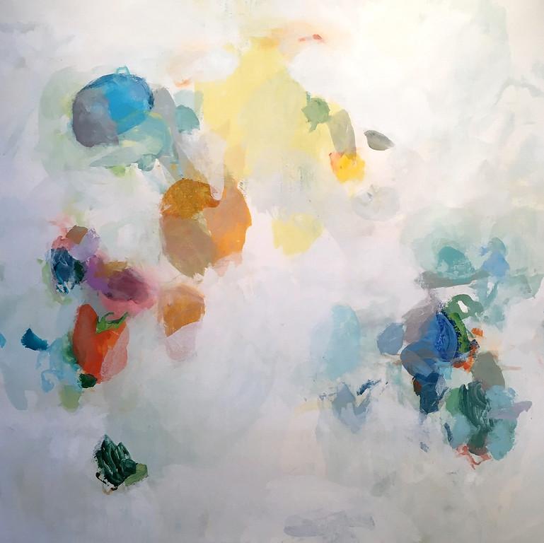 "Illusory-Hibberd, 50""x50"" on canvas"
