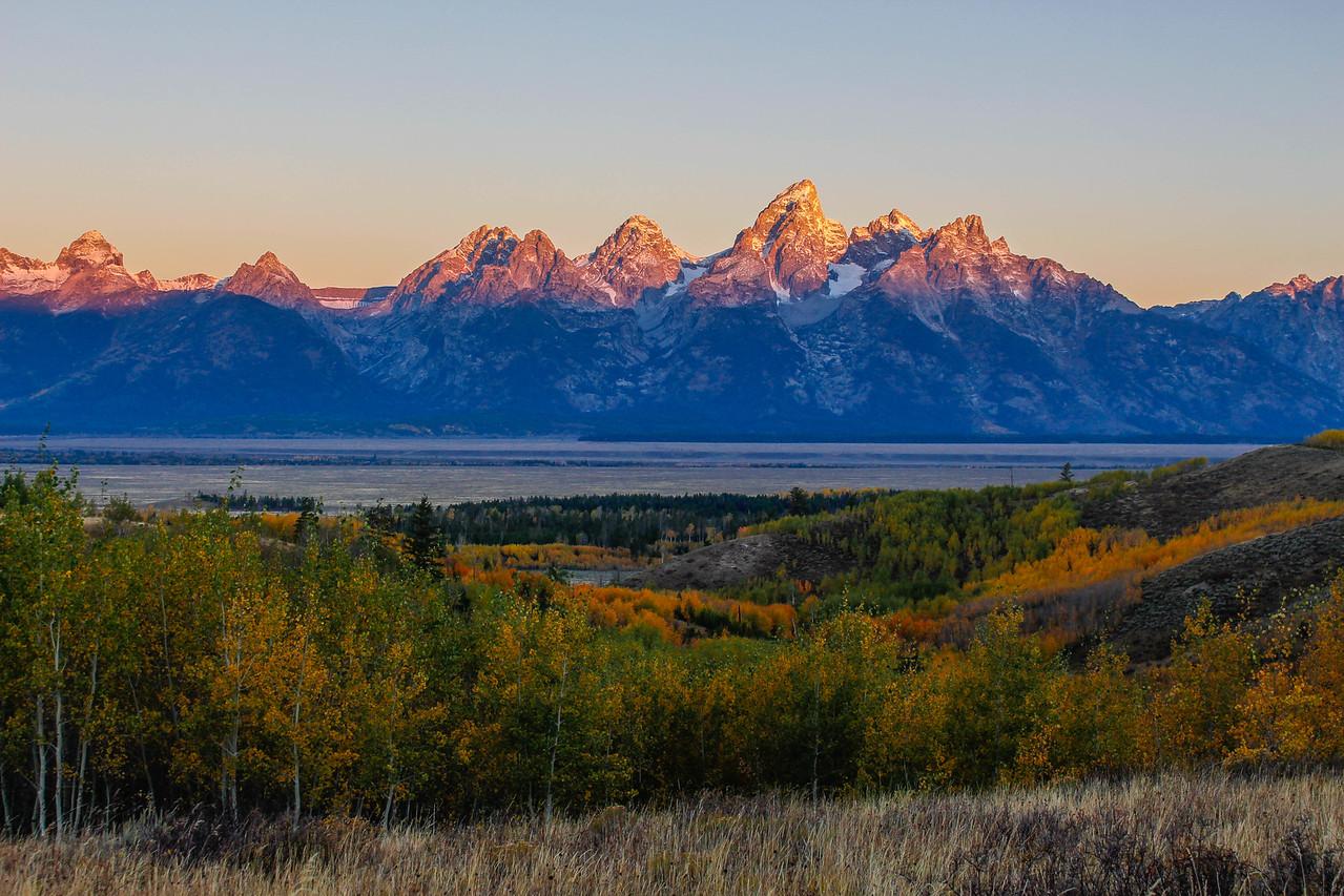 Teton Foliage Sunrise WY