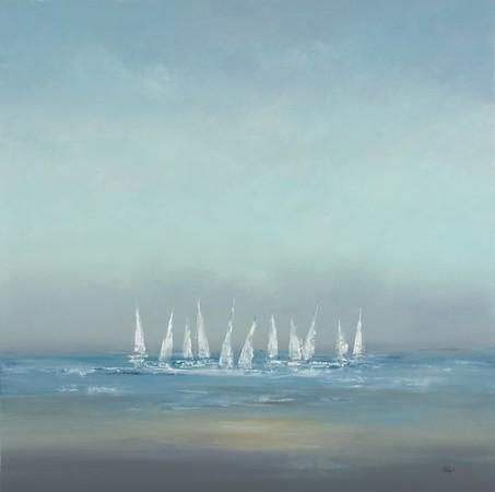 "Setting Sail I-Ridgers, 40""X40"" on canvas"