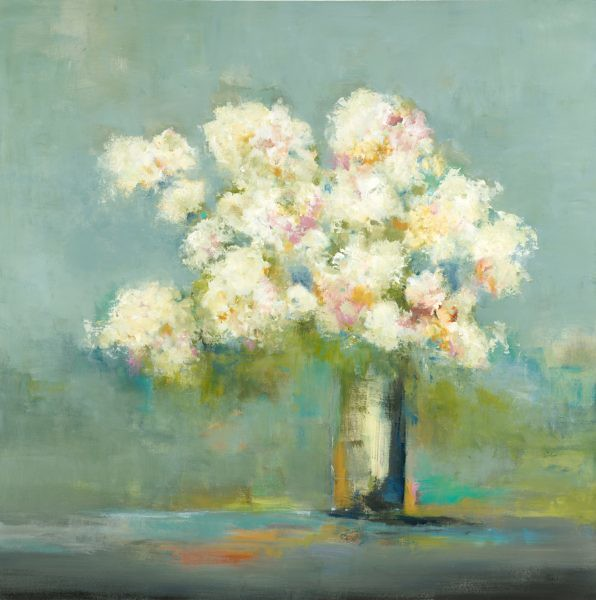 """Pastel Bouquet-Ridgers, 48""""X48"""""""