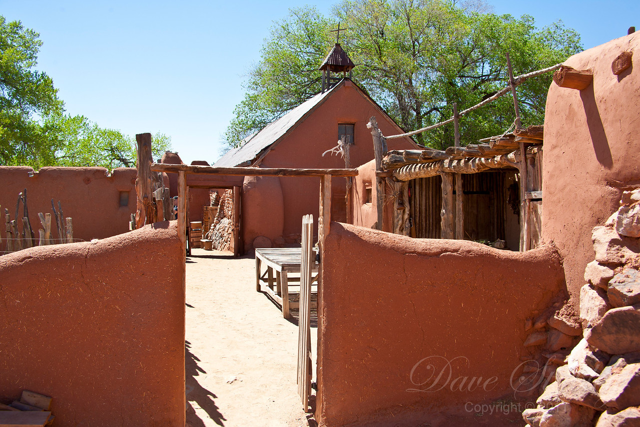 El Rancho de las Golondrinas - farm buildings from the 1700's
