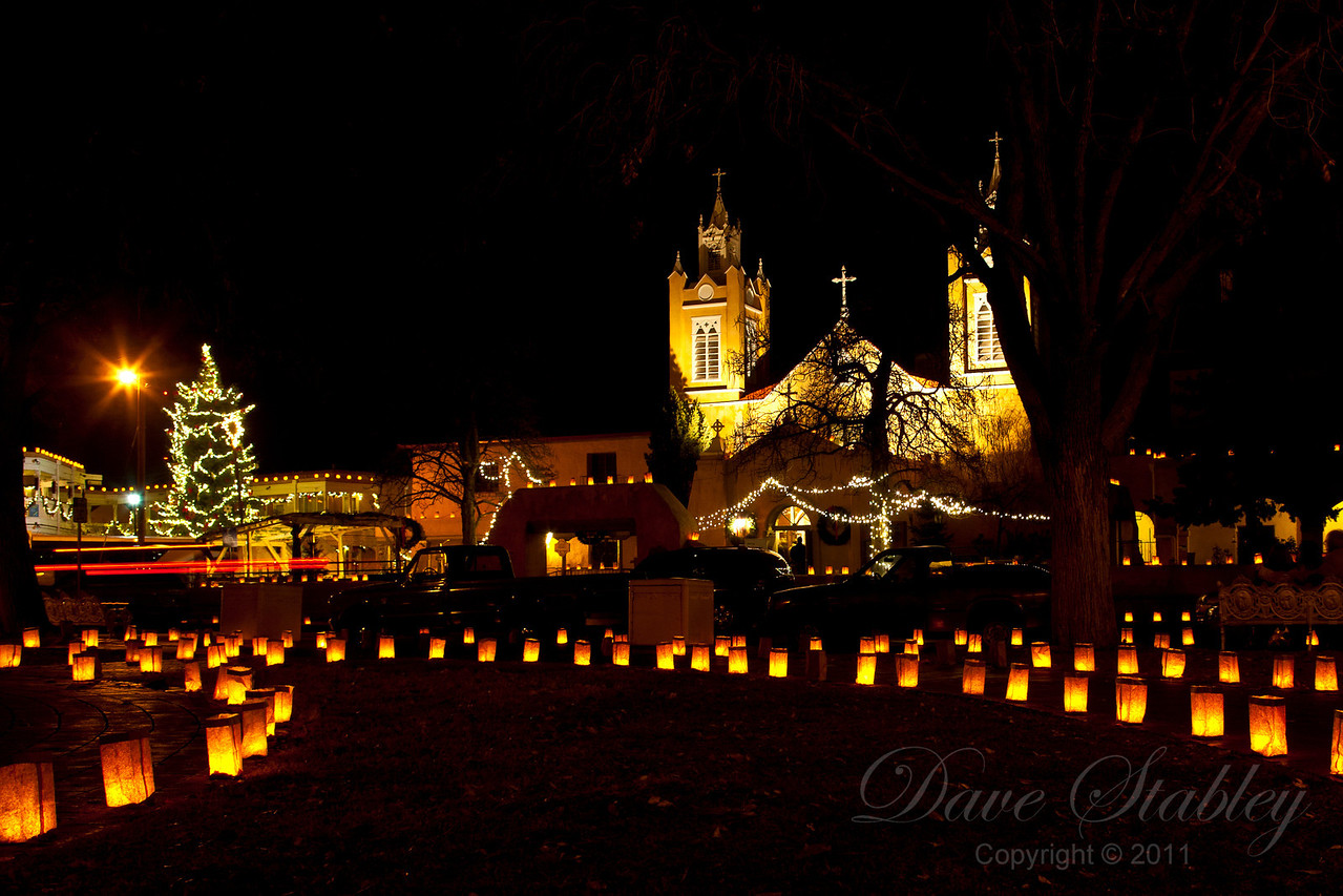Luminaria on Christmas Eve in Old Town ABQ
