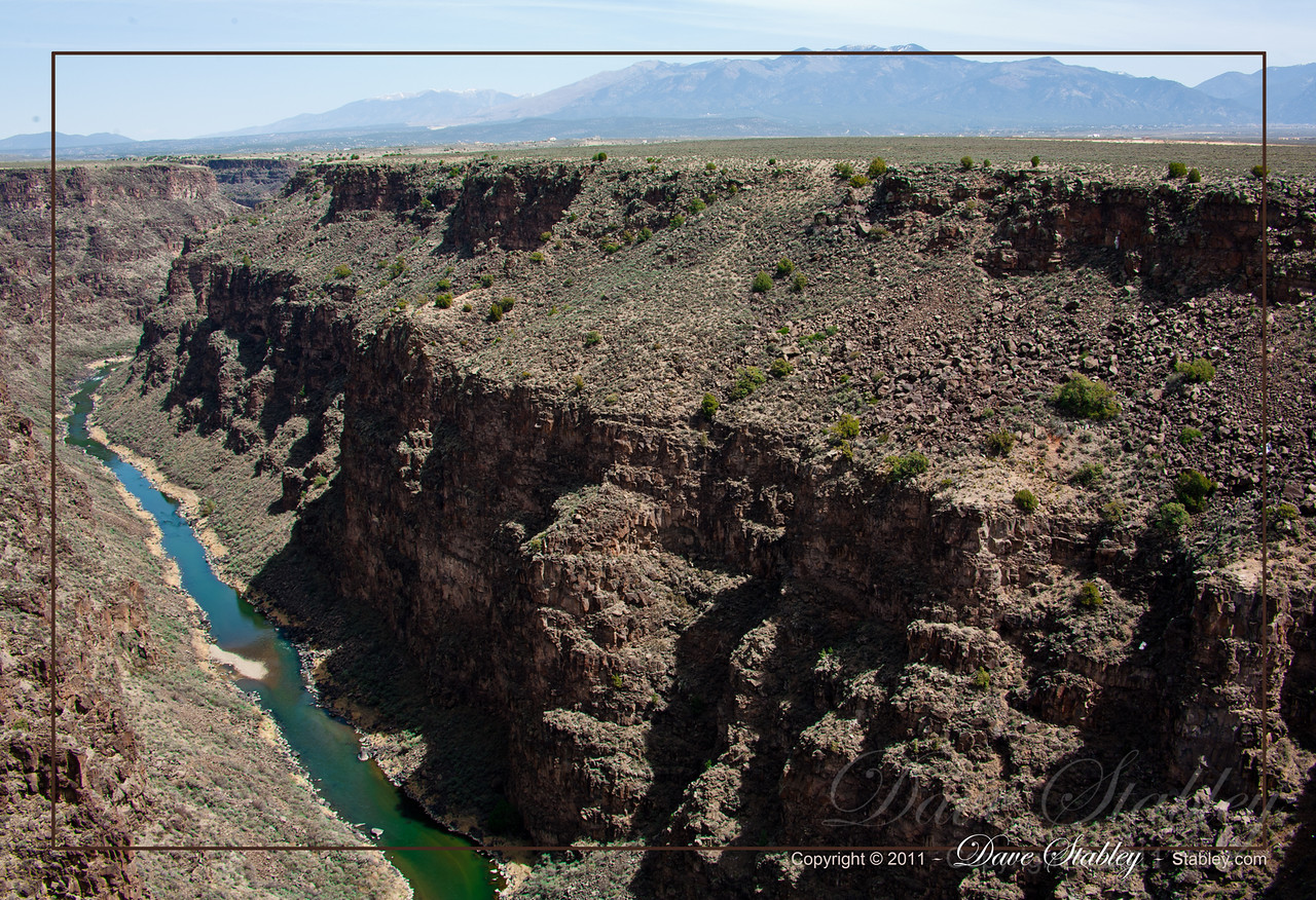 Rio Grand Gorge at the bridge just Northwest of Taos.