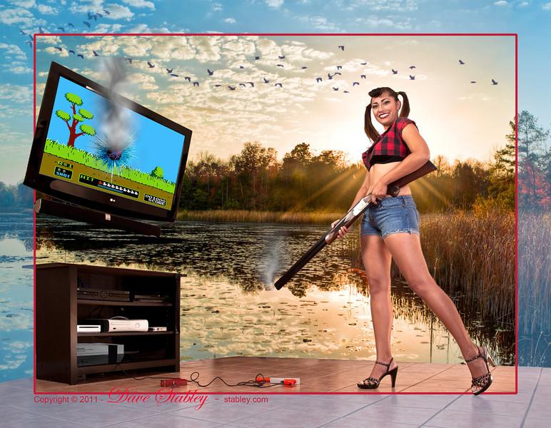 Duck Hunt Retro Style