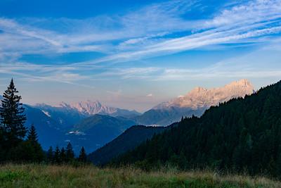 Alba sulle Dolomiti dal Passo Duran