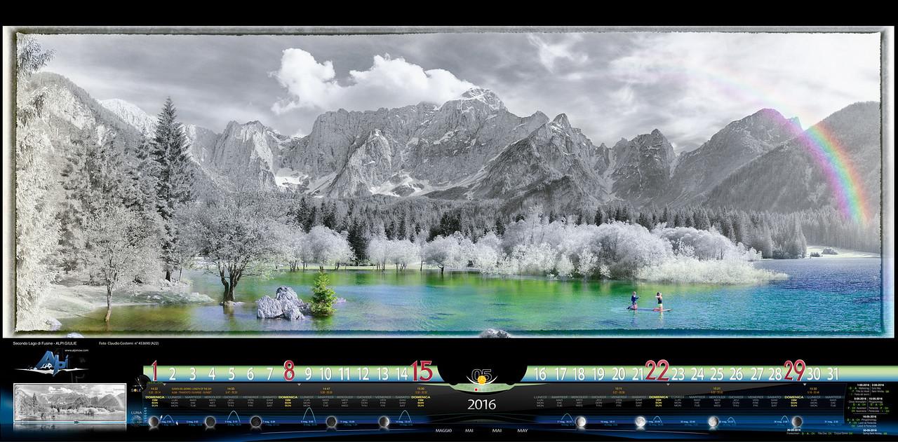 MAGGIO - Immagine artistica del Secondo Lago di Fusine