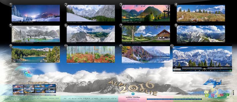 Calendario Alpi Giulie 2016 - retro copertina (foglio 14)