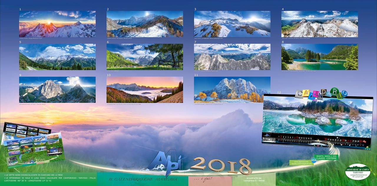 Calendario fotografico Alpi Giulie 2018
