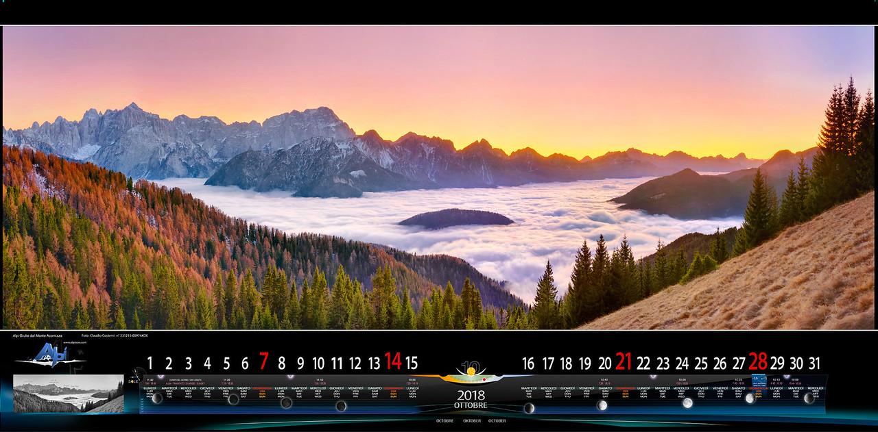 OTTOBRE 2018 - Alpi Giulie, verso sud dal Monte Acomizza