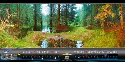 Ottobre - Foresta di Fusine allagata, nei pressi del secondo lago