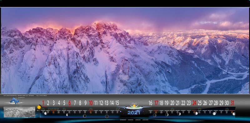 Montasio, parete nord, Val Saisera