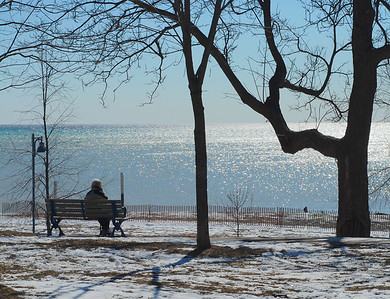 A Chilly Blue Day at Lake Ontario