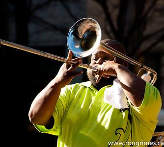 A New Satchmo; Charlotte (NC) Street Musician