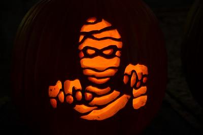 A Pumpkin Mummy