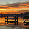 Put in calendar box without a date <br /> 1-7-12 - Winter Sunrise, Harbor Master House, Barrington RI