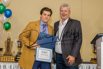 Hayden Ursulak receives a Sports Scholarship from Tuxedo Sports.