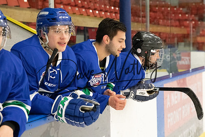Year End skate with Canucks