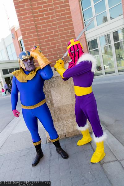Thanos and Baron Zemo