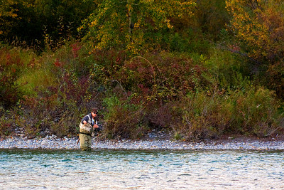 Fly fisherman enjoying the last Friday of summer