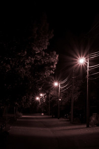 CLy likes photographing streetlights at night