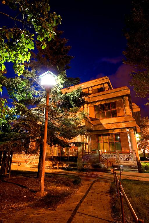 Lamp beside the Chinese Senior Citizen Center