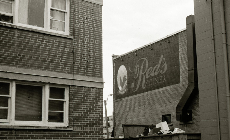 Red's Diner, Calgary 2011<br /> Ricoh 500 Ilford FP4