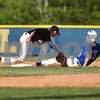 Andrew Isgett (5) for Calhoun County tags out Matthew Strickland (13) of Edisto trying to steal second base.
