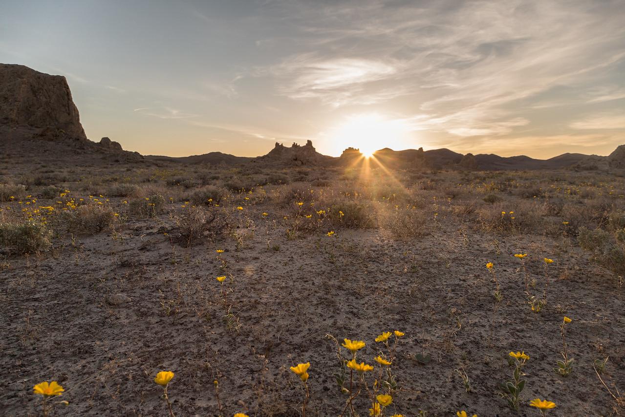 Trona Pinnacles Spring Sunset