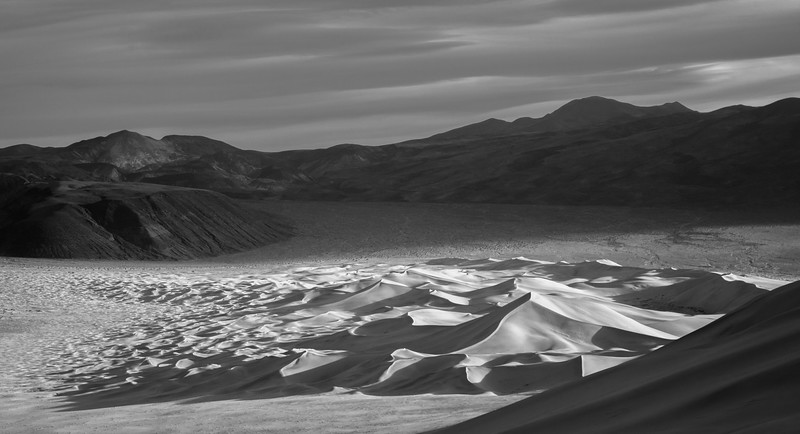 Eureka Dunes Contrast and Shadows