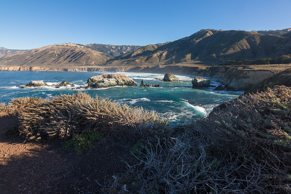 Northward Morning View atop a Big Sur Bluff