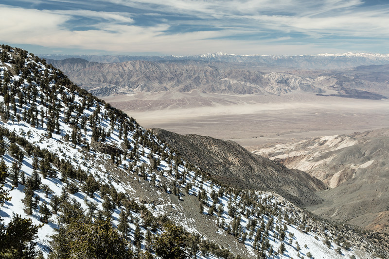 Looking Over the Panamint Valley and into the Eastern Sierra