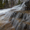 Fast Moving Water Cascading over Granite