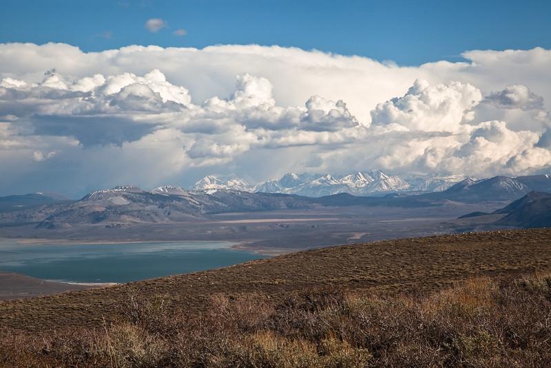 Cumulus Clouds over Mono Lake
