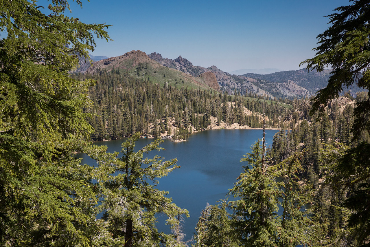 Looking Down to Kinney Reservoir on a Clear July Day