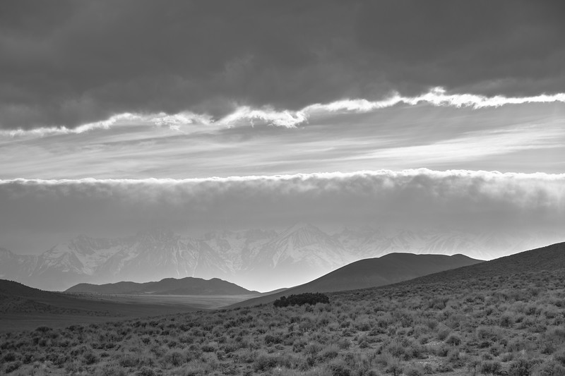An April Storm Moves Over the  Sierra Crest