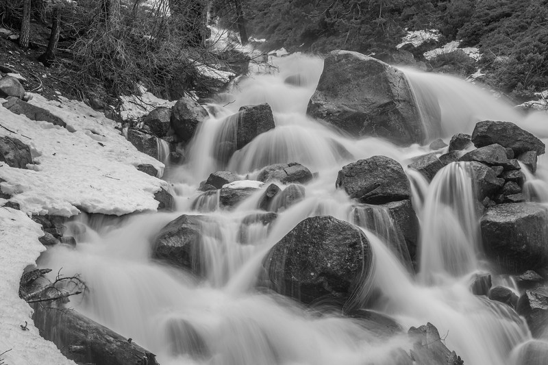 Colorless Hawley Grade Falls