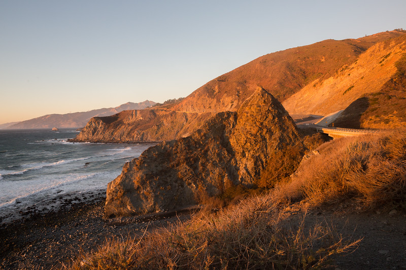 Golden Light Along Highway 1