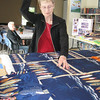 Barbara Beerman, a California snowbird from Salt Lake City, Utah, sews on a quilt. When she is in town, she participates in Bethlehem Lutheran Church's Scraps and Prayers—a group that turns out about 100 quilts a year. Terri Lackey photo
