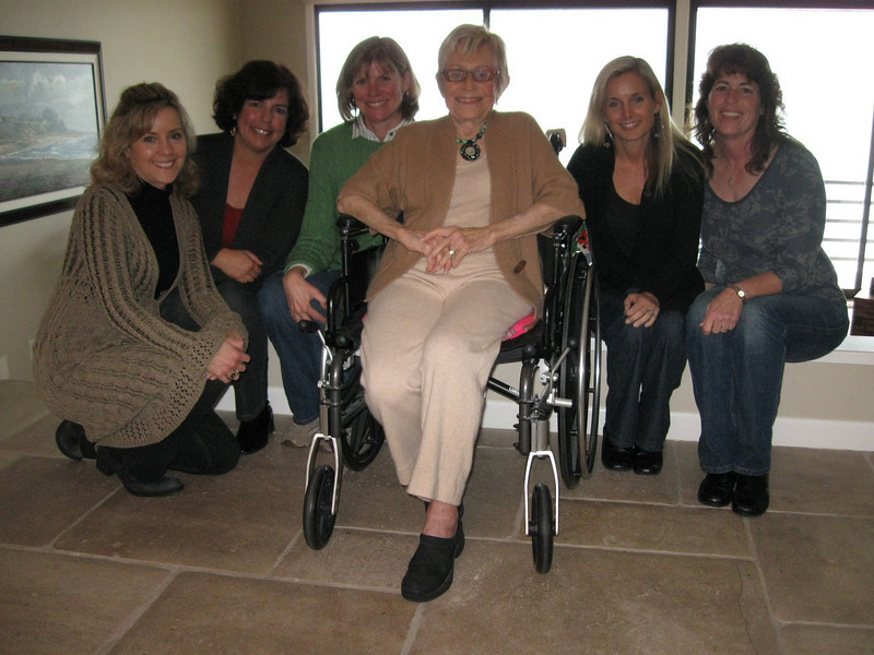 Women from Our Savior's Lutheran Church, San Clemente, Calif., who meet regularly for Bible study and conversation. Left to right: Linda Taylor, Loretta Cooper, Kelly Frohner, Evey Thomsen, Joelie Buchan, and M'Liz Kelly.