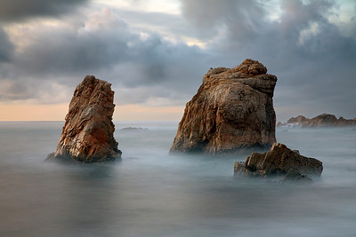 These sea stacks in Garrapata State Park are constantly battered by large waves in the winter months. They make great subjects either by themselves or as part of a wider seascape image.