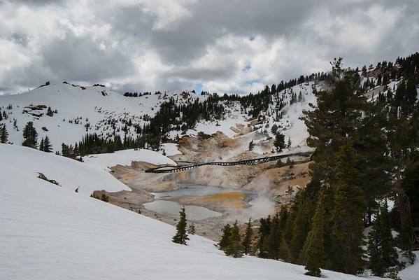 Bumpass Hell; Cascade Mountains; Lassen Volcanic National Park The view was heavenly, the smell rather hellish.