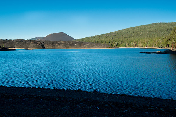 Butte Lake; Cascade Mountains; Lassen Volcanic National Park; california; lake; national park Butte Lake used to be larger. The Cinder Cone eruption filled much of the lake. Now the 2 share the landscape.
