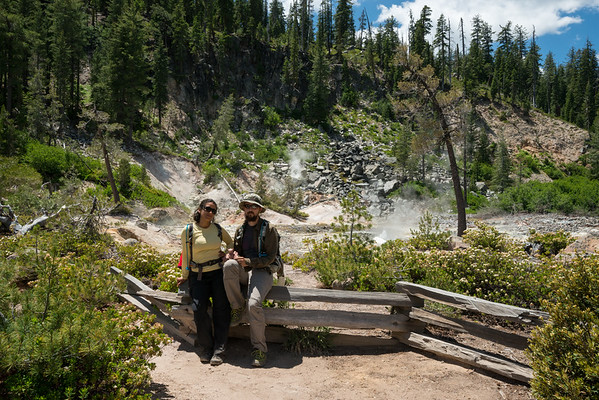 Cascade Mountains; Lassen Volcanic National Park; california; devils kitchen; geology; geothermal Steaming mud pots all around us.