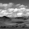 Hillside Panorama _ bw