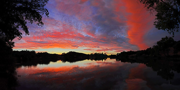 Outstanding sunset show!  6 shot panorama