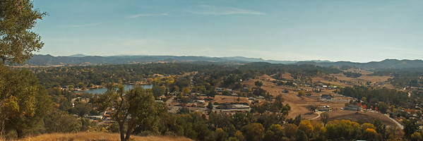 Looking southward, Atascadero Lake-center left 3 shot panorama